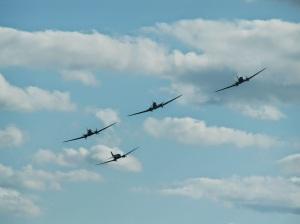 4 C47s over Duxford