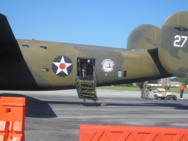 The CAF B24 is fitted with a far easier method of getting on board. This crew door in place of the usual bomb bay entrance.