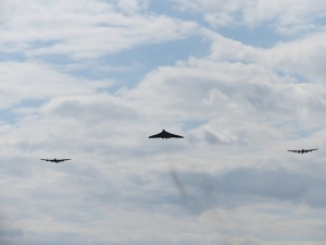 The Vulcan with both Lancasters, certainly something to remember.
