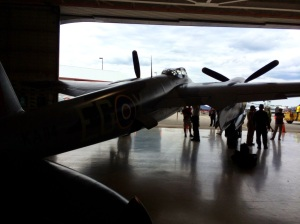 Mosquito in the hangar at Hamilton
