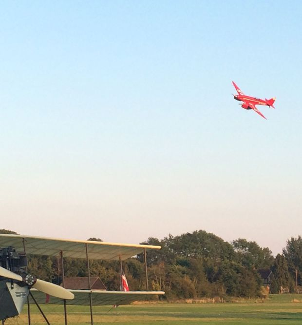 Comet flies past at the Shuttleworth Pageant 2014