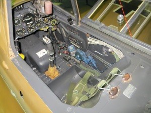 The immaculate cockpit of Black 6.