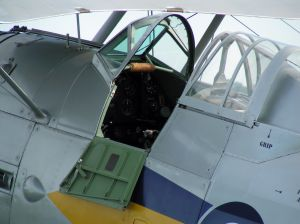 The cockpit of the Shuttleworth Gladiator