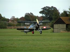 The Shuttleworth Gladiator rolling out at Old Warden