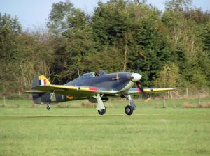 The Shuttleworth Collection's Sea Hurricane getting airborne.
