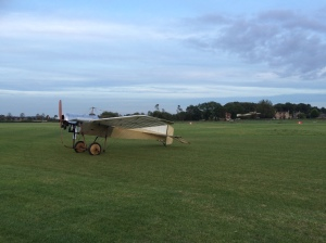 Here the Deperdussin flies along behind the Blackburn Monoplane.