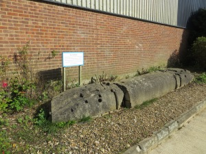 The concrete moulds used to construct the Hornet fuselage.