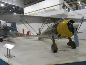 A Fiat CR.42 at RAF Museum Hendon.