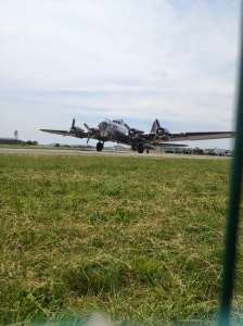 B-17 preparing to depart for another pleasure flight.