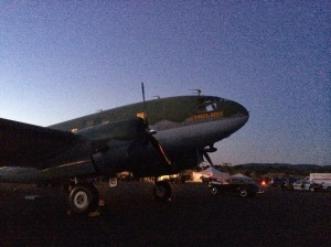 "C-46 ""Tinker Belle"" on the Friday evening."