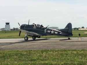 The Dauntless taxiing out.