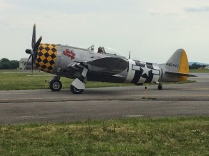 P-47 on its way to display.