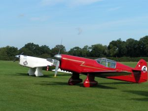 The Mew Gull Pair at Shuttleworth's Race Day Airshow.