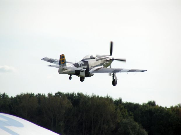 Peter Teichman gets airborne at Shuttleworth earlier this year.