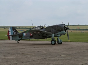 Hawk 75 Taxiing at Duxford