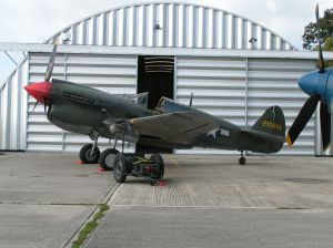 "Wearing the temporary ""Red Tails"" scheme at North Weald."