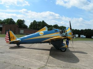 The P-26 out for Taxi runs at Duxford