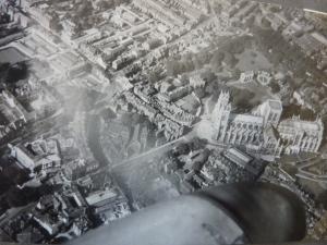 A shot of York Minster, taken by my Granddad, from a Hornet.