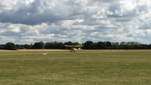 The Sywell based Be2 replica landing at Headcorn.