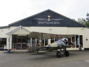 The Shuttleworth Collection's Sopwith Pup, Sits outside the museum entrance on the 11th November 2014.