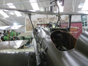 On this late war Se5a, a machine gun can be seen aimed through the propellor arc. This was made possible and safe thanks to the development of the interrupter gear.