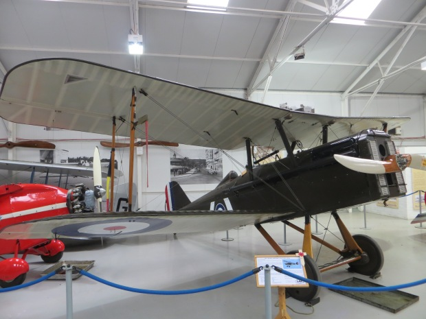 An SE5a at Old Warden, similar to the aircraft Travers collected 8 of his victories in.