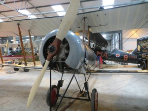 A front view of the Avro 504, showing the 80hp Gnome Rotary engine.