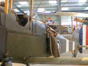 A close up shot showing the detail of The Vintage Aviator Ltd's Be2 replica.