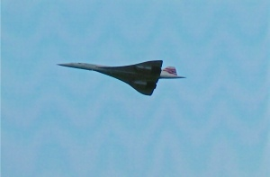 Concorde passing over Filton on the 26th November 2003.