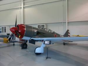 The La-9 waiting in the wings in the Museum.