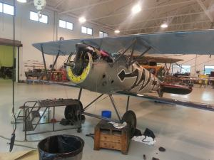The Albatros replica currently receiving attention.
