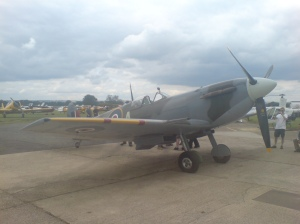 Stephen Greys Spitfire Mk.V at another Flying Proms evening.