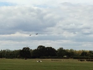 The Lancaster pair at Headcorn earlier this year.