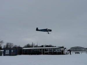 A Turbulent making the most a white Christmas time at Headcorn in 2010.