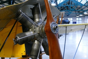 A close up of the Bleriot's engine.