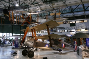 Another view of the Sopwith Triplane.