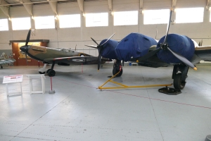 Keeping good company in Hangar 3 at Duxford.