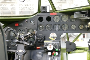 The Old nose offers an up close look at the instrument panel and cockpit layout of the type.