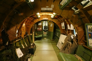 The interior of the Horsa fuselage section.