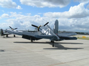 The Fighter Collection's Corsair, wearing Royal Navy markings.