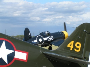 P-40 and Corsair of the Fighter Collection