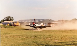 A Buchon kicking up dust during the filming of Piece Of Cake.