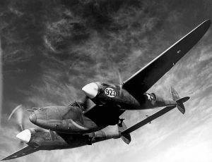 P-38J Lightning in flight - US Air Force.