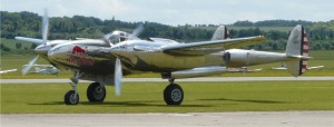 A closer look at the Austrian based P-38L. Seen here at Duxford in 2012.