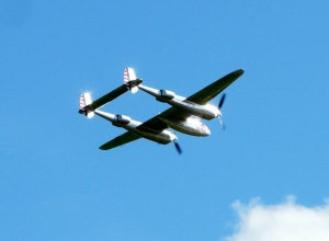 The Flying Bull's Distinctive P-38L.