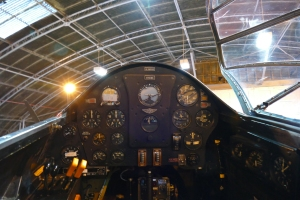 """A """"Pilots Eye"""" view from the DH88 cockpit."""