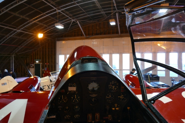 Looking out over the nose of the DH88.