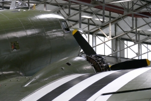 Close up look at the flight's Dakota.