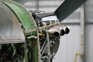 Close up look at just one of the countless Merlin engines housed in this hangar.