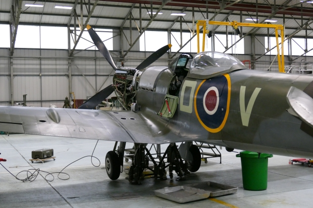 MK.XVI TE311 seen here under maintenance at RAF Coningsby.